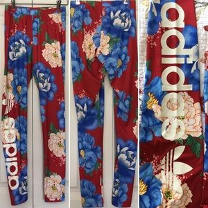 Adidas x Farm Chita Floral Red Leggings